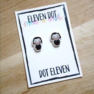 Jewelry - SAW Jigsaw Bobble Doll Horror Movie Stud Earrings